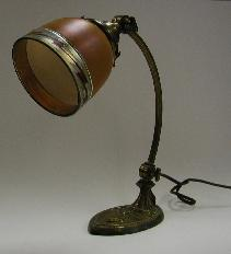 brown aurene shade original to student desk lamp